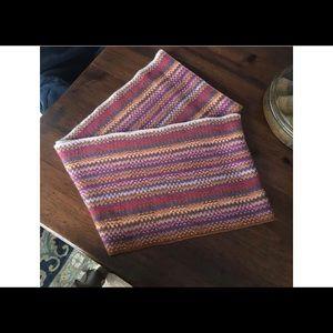 J. Jill Red Tartan Knit Infinity Scarf 🧣